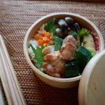 紫蘇をバランに<br>2016年6月29日のお弁当
